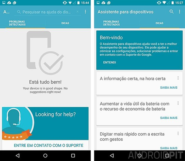 Assistente para dispositivos nexus google