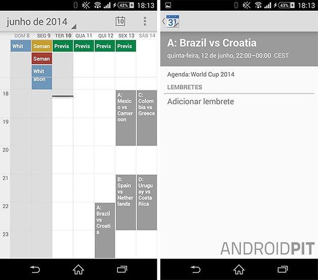 Calendario copa do mundo google