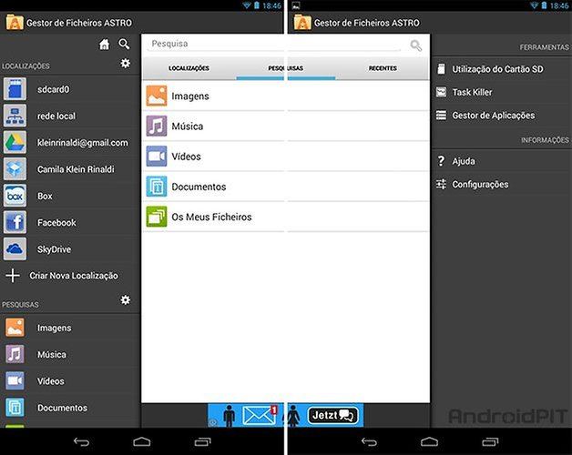 Android astro manager file