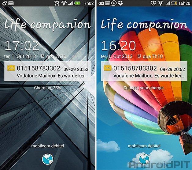 Galaxy S4 tela bloqueio