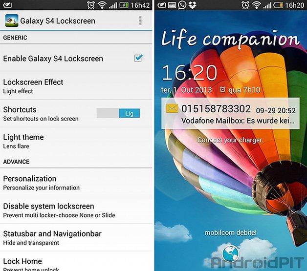 Galaxy s4 tela de bloqueio