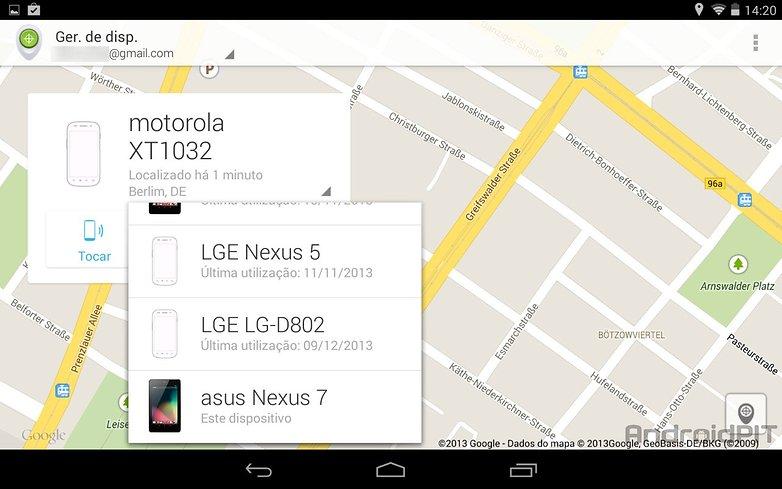 Gerenciador dispositivos android app