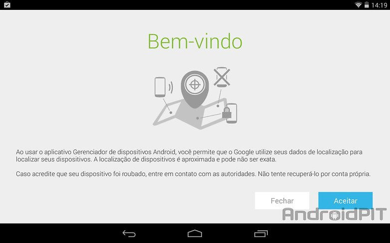 Gerenciador dispositivos android play store