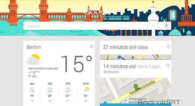 Google Now cartoes