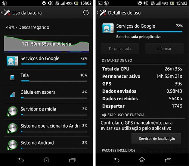 Google Play Services bateria