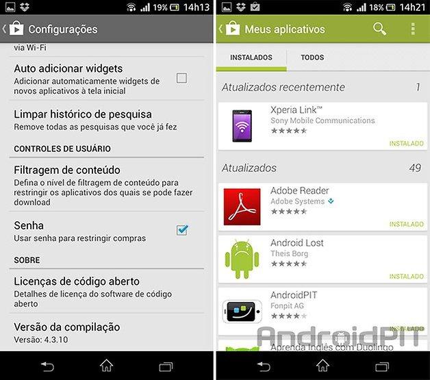 Google Play Store atualizacao