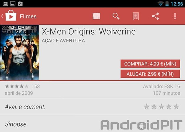 Google play store update filmes
