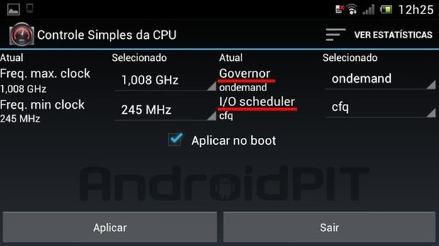 Governador i o scheduler