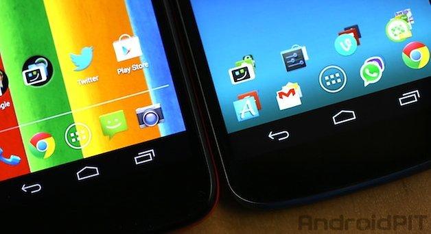 Moto G Nexus 4 botoes
