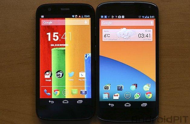 Moto G Nexus 4 coloracao tela