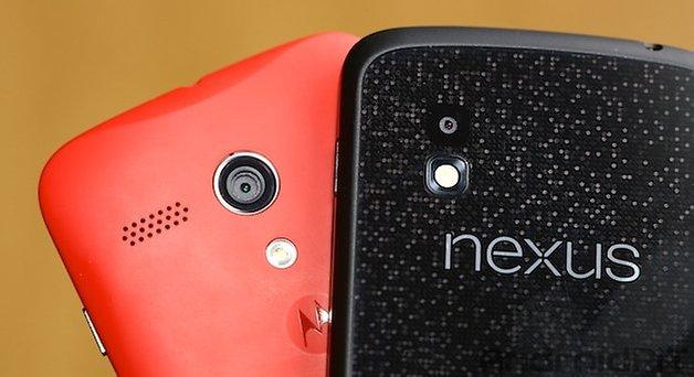 Moto G Nexus 4 comparacao