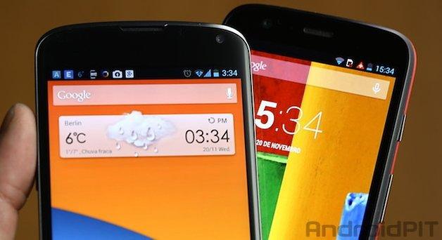 Moto G Nexus 4 tela