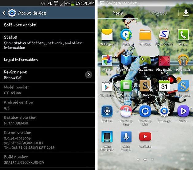 Note 2 Android 4 3 update