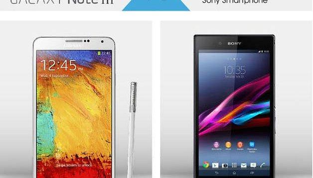 Qual é a sua? Galaxy Note 3 vs. Sony Xperia Z Ultra