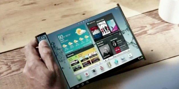 Samsung telas flexiveis
