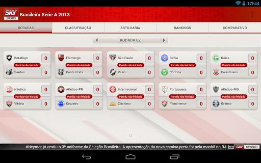 Sky Sports Brasil UI