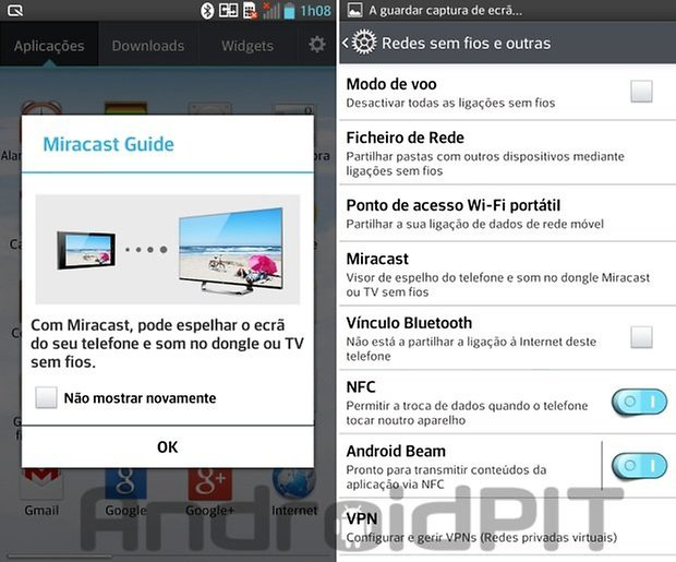 Software optimus g miracast