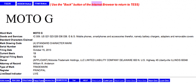 Trademark Electronic Search System TESS 650x277