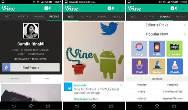 Vine android gifs smartphone
