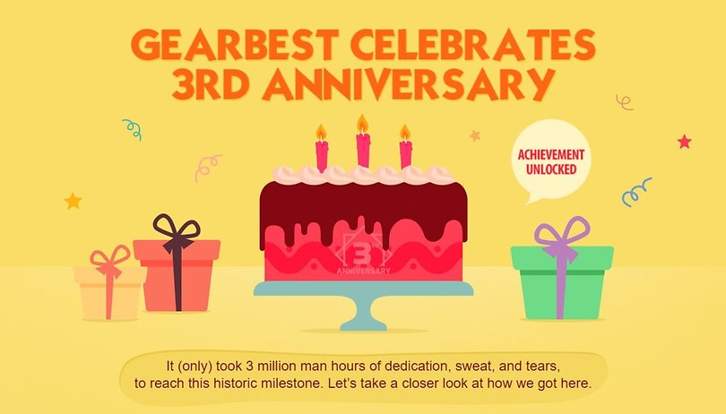 GearBest Anniversary: top smartphones and more at great discounted prices