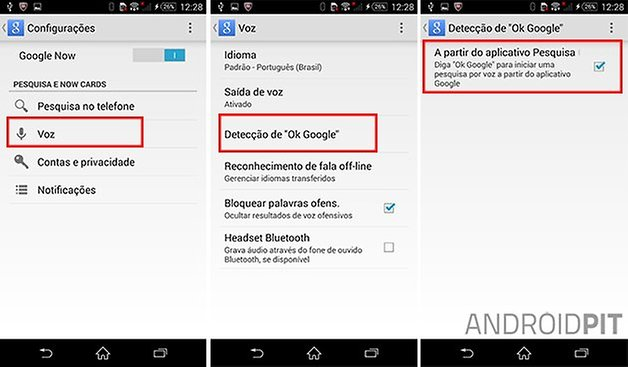 hotword google portugues android