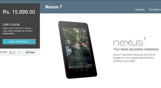 nexus 7 google play india
