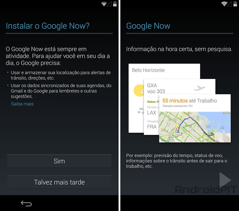 nexus5 Google now configuracoes