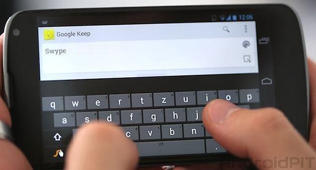 swype teclado nexus 4