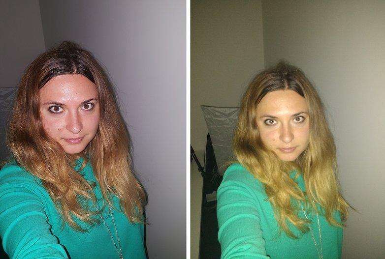 Smartphone x camera comparacao selfie escuro xy