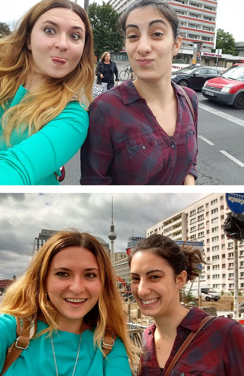 Smartphone x camera comparacao selfie xy