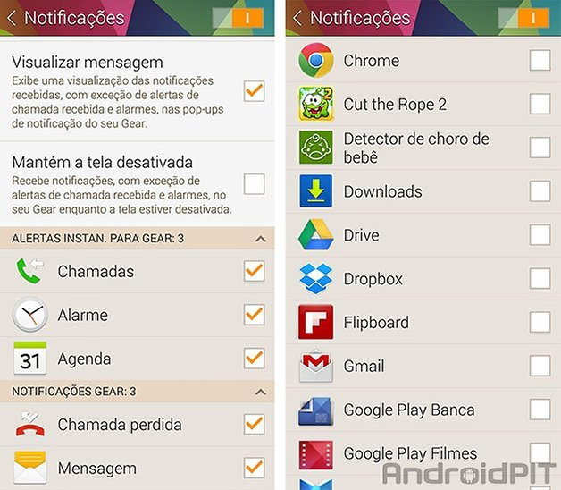 Gear Fit app notificacao