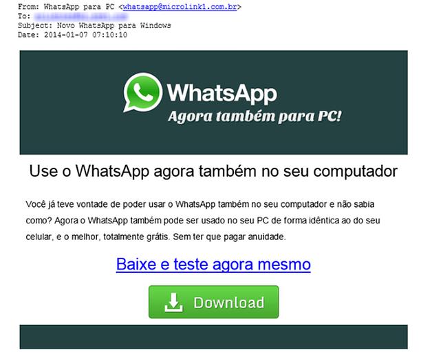 Golpe whatsapp brasil