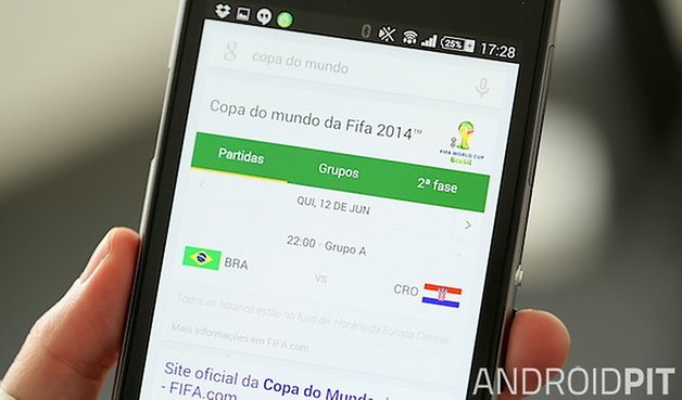 Google Now copa do mundo