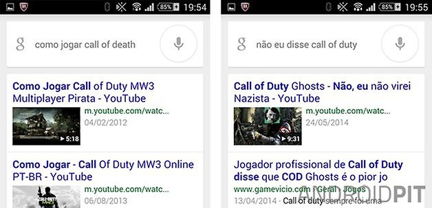 Google Now correcoes entendimento
