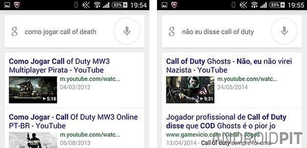 Google Now correcoes entendimento
