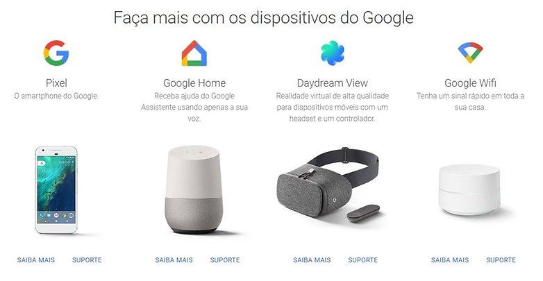 Produtos Google hardware