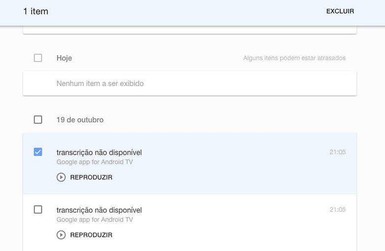 google backup buscas voz apagar historico