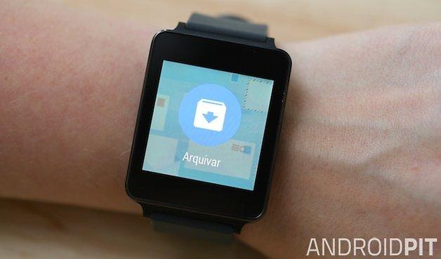 LG G Watch, recursos so Software, imagens, controle de mídias, envio de e-mail, sms