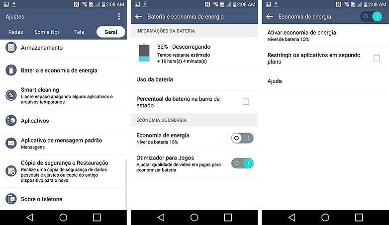LG G4 dicas truques bateria