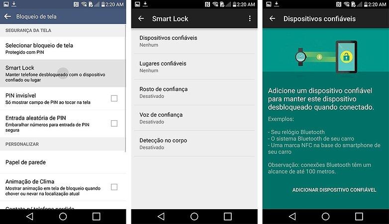 LG G4 dicas truques smart lock