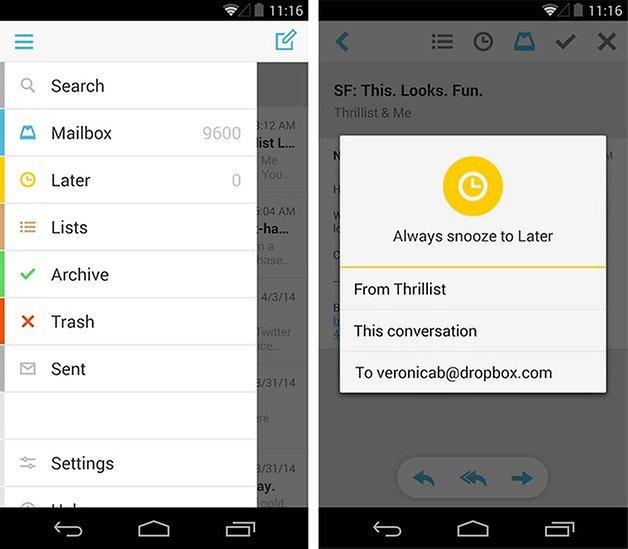 Mailbox dropbox reenvio email android