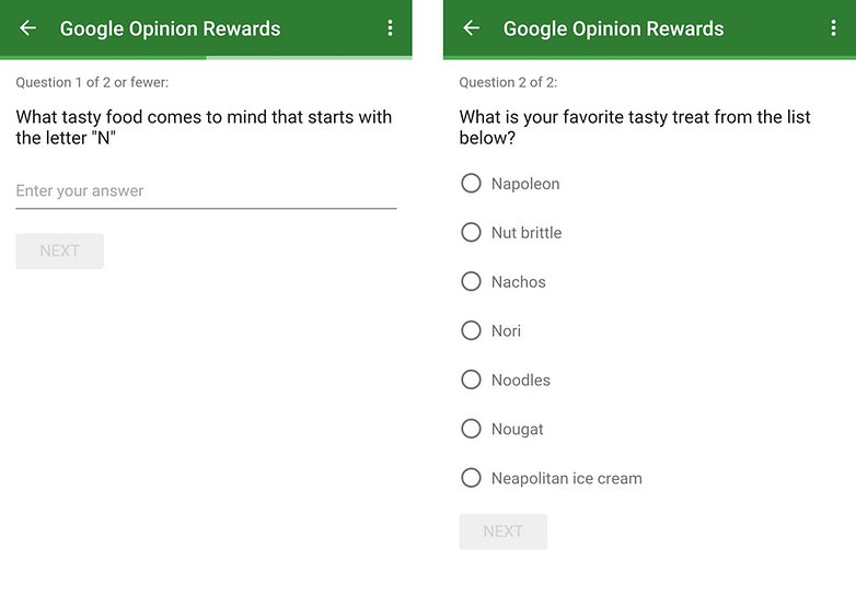 app google rewards enquete android n