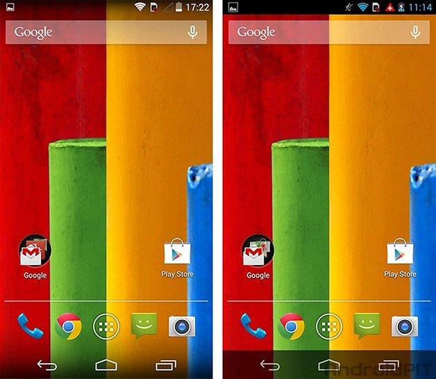 Moto G Android kitkat UI