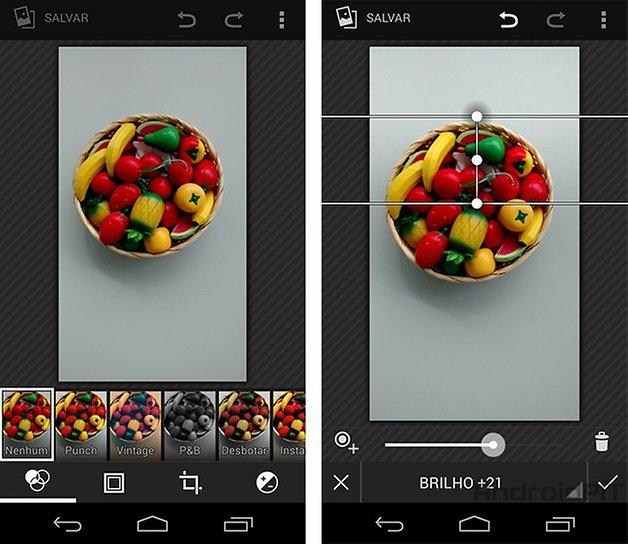 Moto G Android kitkat editor imagem
