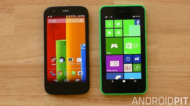 Motorola Moto G Nokia Lumia 630 UI