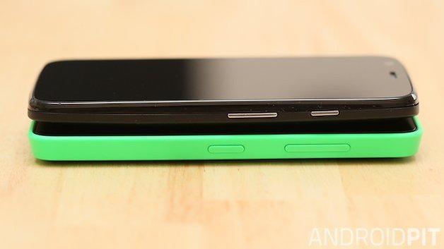 Motorola Moto G Nokia Lumia 630 botoes