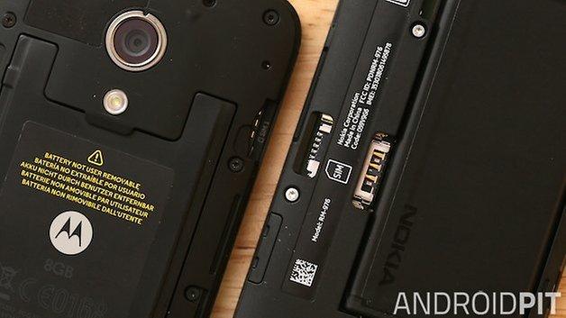 Motorola Moto G Nokia Lumia 630 memoria