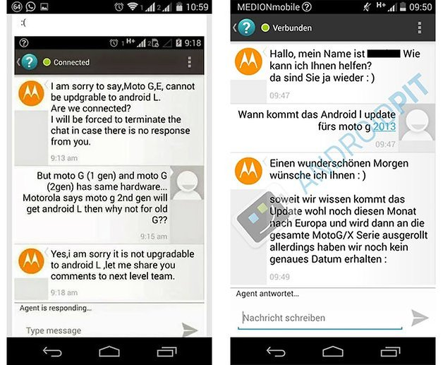 Motorola atualizacao android l