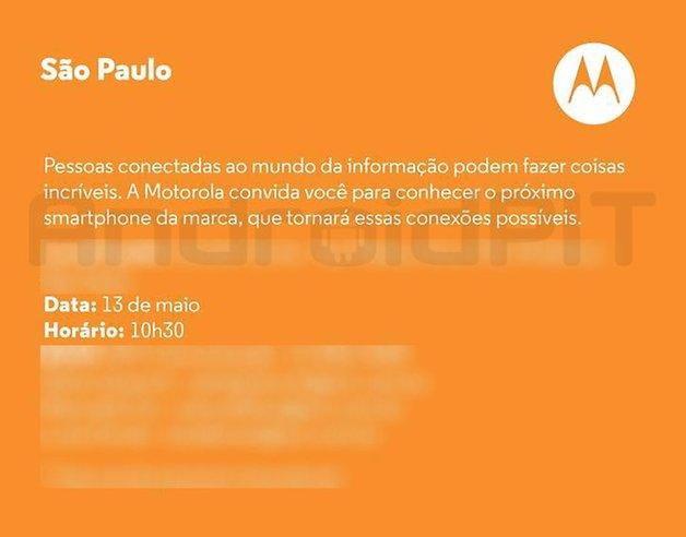 Motorola convite evento moto e