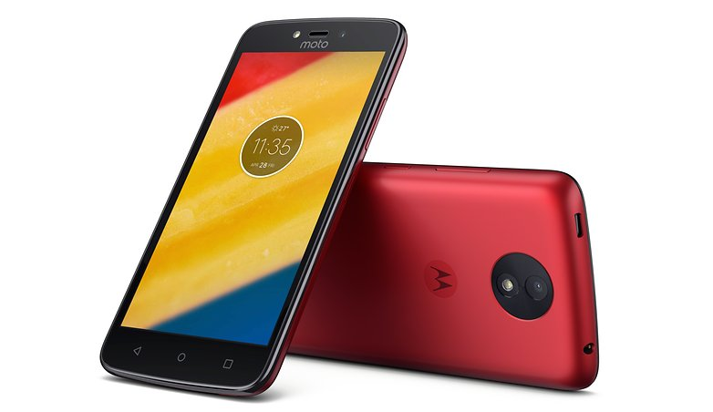 Moto C Plus cherry
